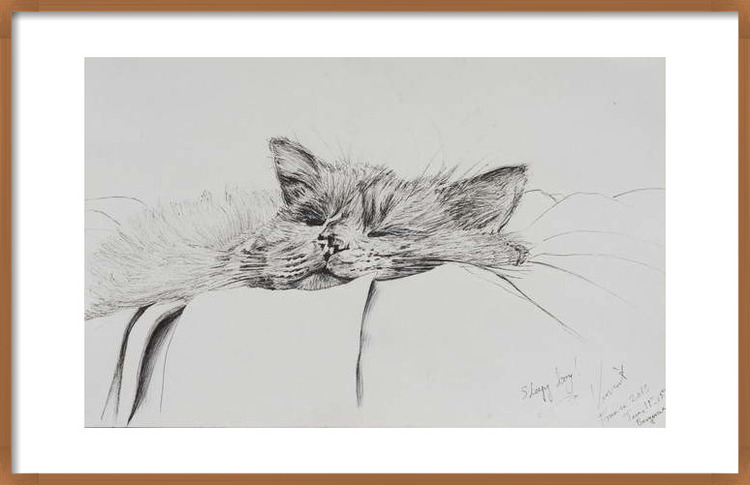Fine Art Print Monty sleepy boy, 2013,