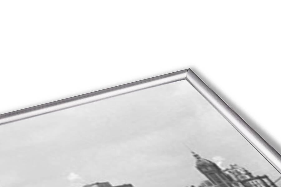 New York - Manhattan skyline and Brooklyn bridge Art Print