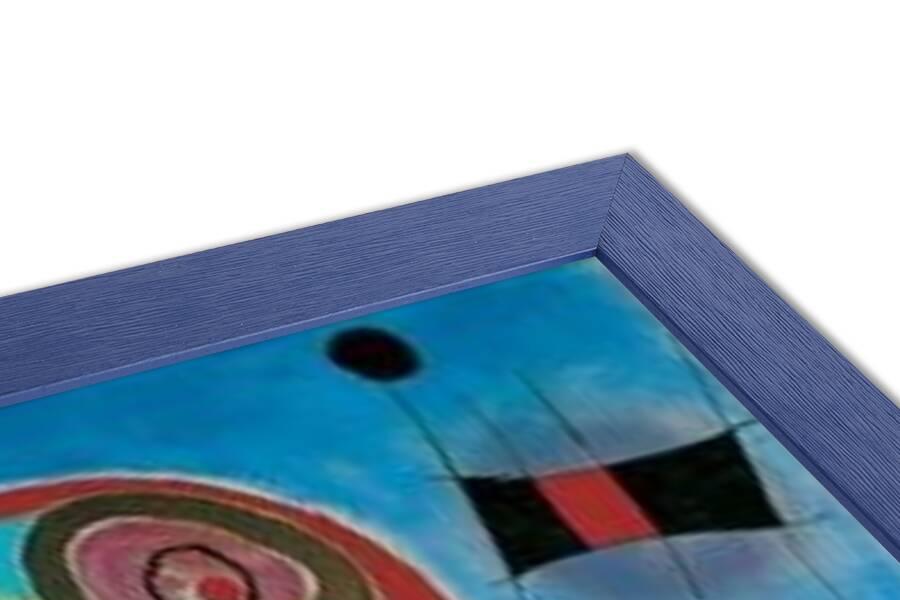 Ladders Cross the Blue Sky in a Wheel of Fire Art Print