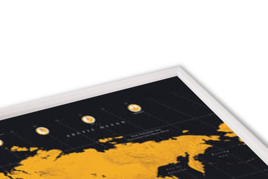 World Map - Gold World Map Poster