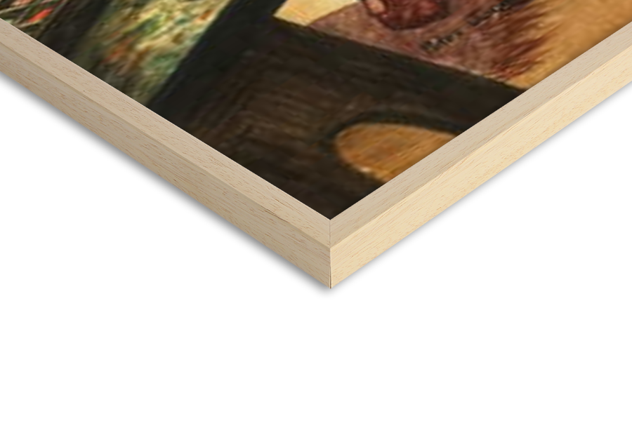 Fine Art Print Leonardo da Vinci painting the portrait of the Mona Lisa