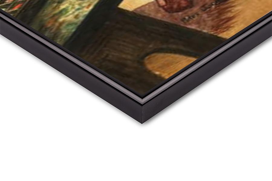 Fine Art Print  Leonardo da Vinci painting the portrait of the Mona Lisa