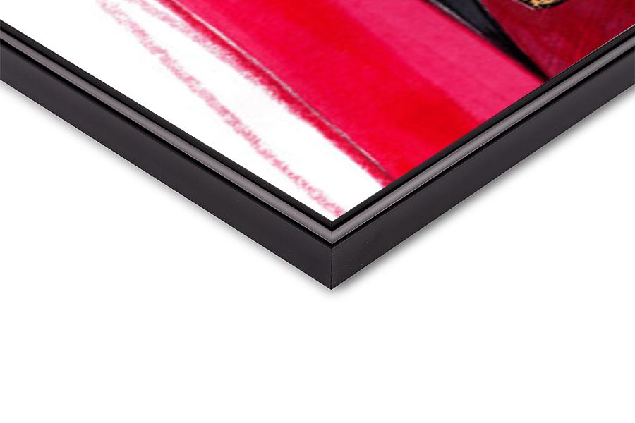 Art Print on Demand Focus on red