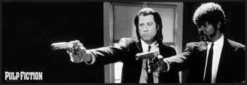 Pulp Fiction - b&w guns Framed Poster
