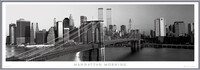 Manhattan - morning b&w posters | photos | pictures | images