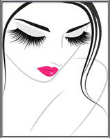 Lash extension beauty icon Framed Poster