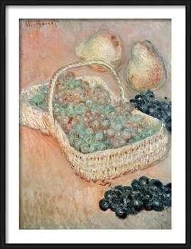 Claude Monet - The Basket of Grapes, 1884 Framed Poster