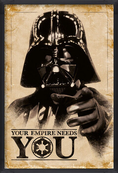 Framed Poster Star Wars - Your Empire Needs You
