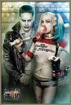 Framed Poster Suicide Squad - Joker and Harley Quinn