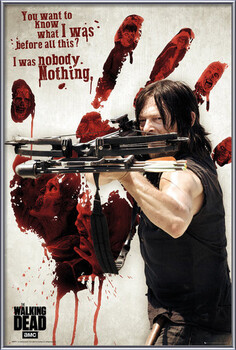 Framed Poster Walking Dead - Bloody Hand Daryl