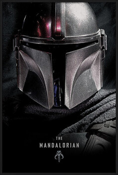 Framed Poster Star Wars: The Mandalorian - Dark