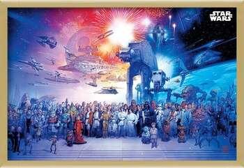 Framed Poster Star Wars - Universe