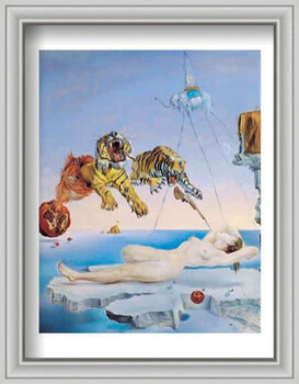 Framed Poster Dream Caused by the Flight of a Bee Around a Pomegranate a Second Before Awakening, 1944