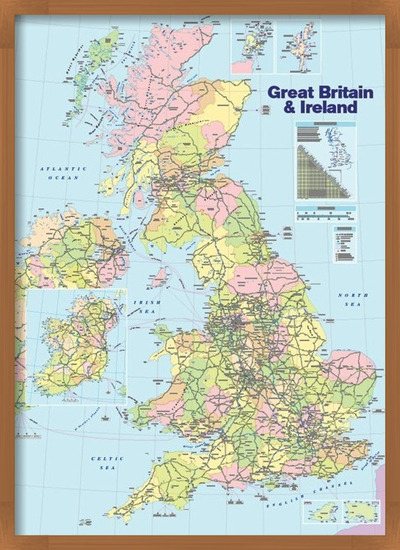 Great Britain and Ireland - Political Map Poster