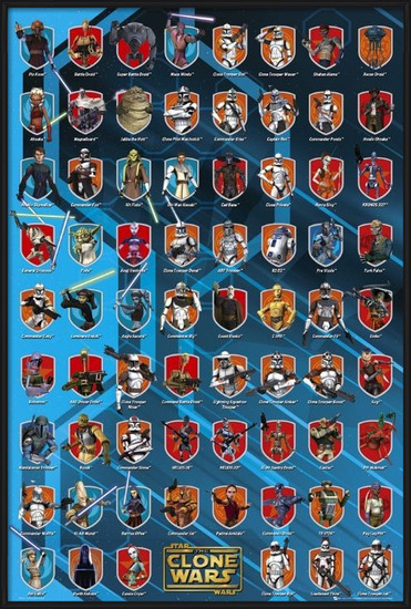 CLONE WARS - characters Poster