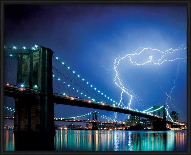 Brooklyn bridge - lighting Poster