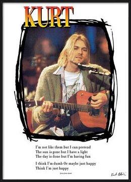 Kurt Cobain - lyrics / guitar Poster