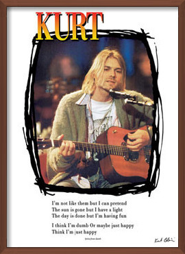 Kurt Cobain - lyrics / guitar Poster