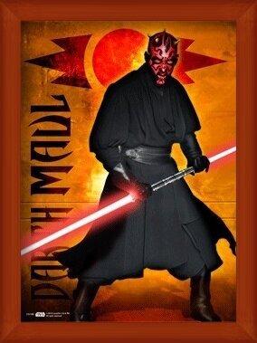 3D Poster STAR WARS - darth maul
