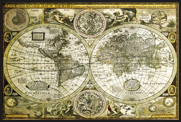 World Map - Historical Poster
