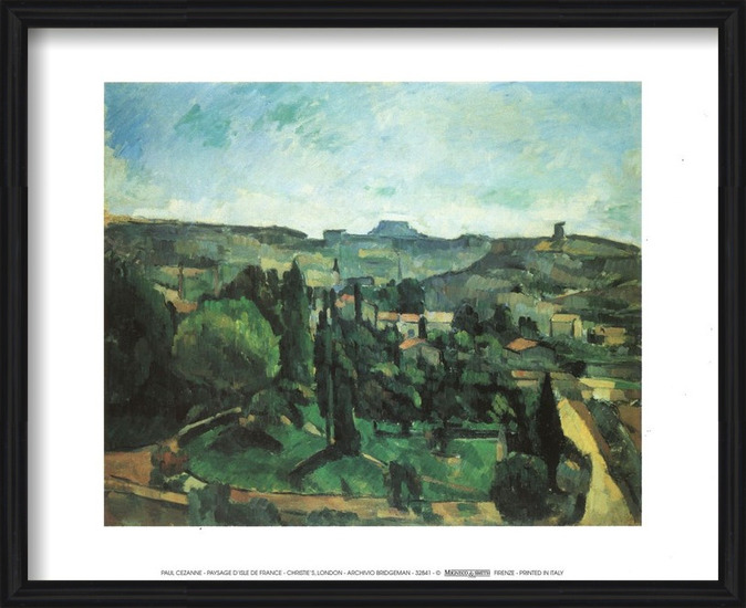 Ile De France Landscape Art Print