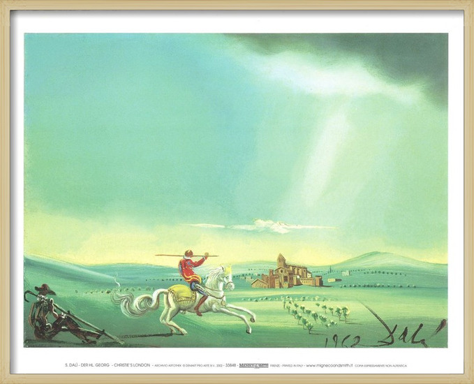 Saint George and the Dragon, 1944 Art Print
