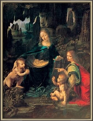 The Virgin of the Rocks - Madonna of the Rocks Art Print