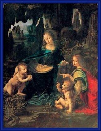The Virgin of the Rocks - Madonna of the Rocks Art Print