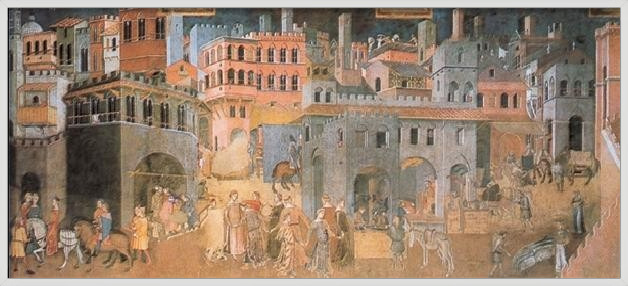 Effect of the Good Government on City and Country Life Art Print