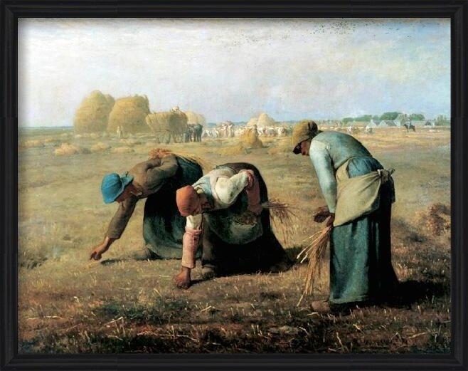 The Gleaners, 1857 Art Print