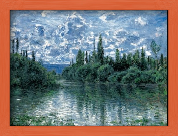 Arm of the Seine near Vetheuil Art Print