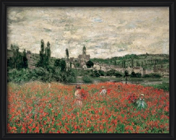 Poppy Field Near Vetheuil Art Print
