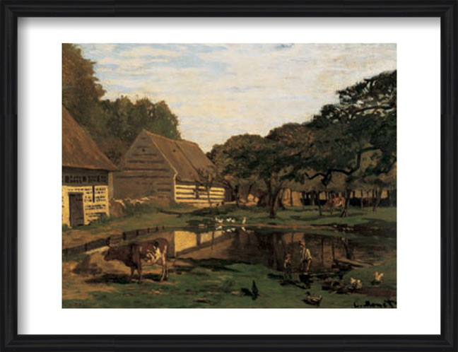 A Farmyard In Normandy Art Print