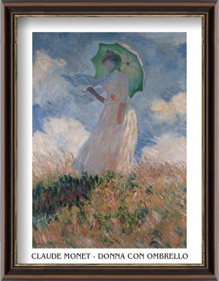 Woman with a Parasol Art Print
