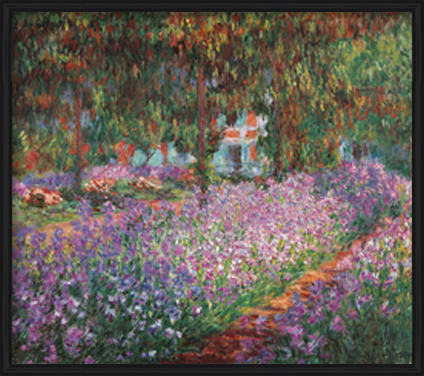 The Artist's Garden at Giverny, 1900 Art Print