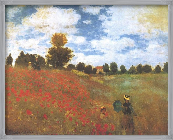 Poppies, Poppy Field, 1873 Art Print