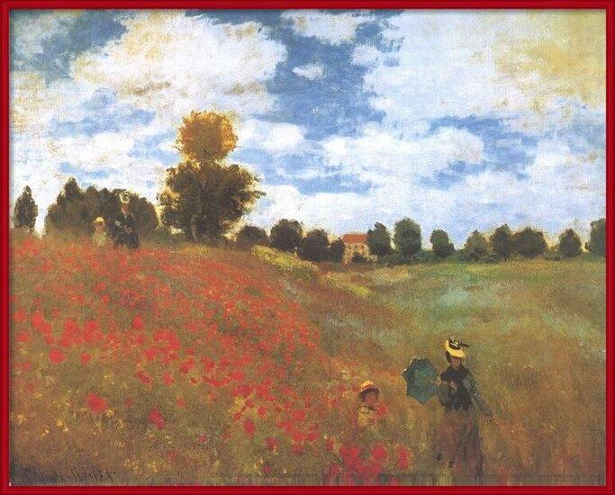 Poppies, Poppy Field, 1873 Art Print