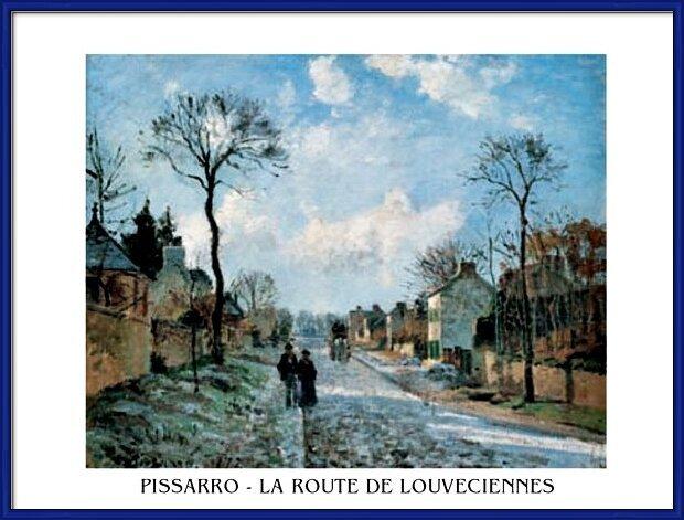 A Road in Louveciennes Art Print