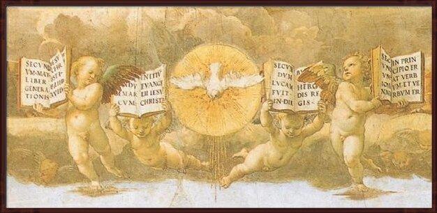 Raphael - The Disputation of the Sacrament, 1508-1509 (part) Art Print