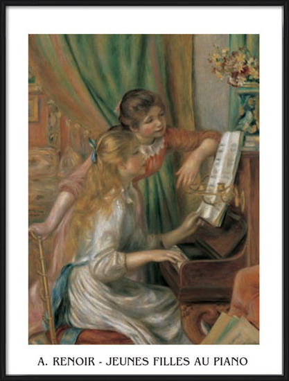 Young Girls at the Piano, 1892 Art Print