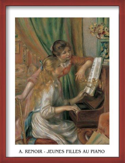 Young Girls at the Piano, 1892 Art Print