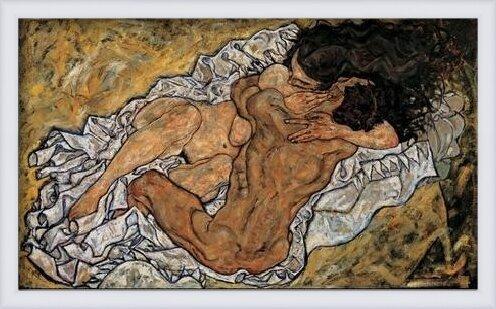 The Embrace (Lovers II), 1917 Art Print