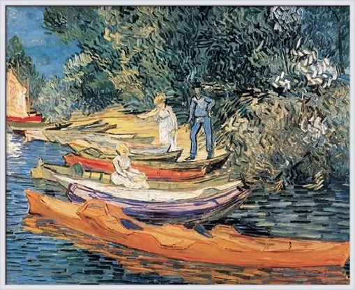 Bank of the Oise at Auvers, 1890 Art Print