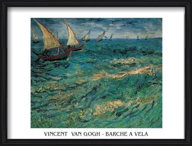 Seascape at Saintes-Maries - Fishing Boats at Sea, 1888 Art Print