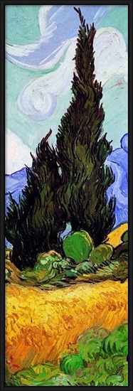 A Wheatfield with Cypresses, 1889 (part.) Art Print