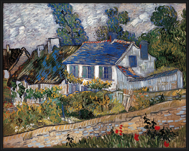 Houses in Auvers, 1890 Art Print