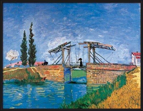 The Langlois Bridge at Arles, 1888 Art Print
