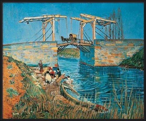 The Langlois Bridge at Arles with a Washerwoman, 1888 Art Print