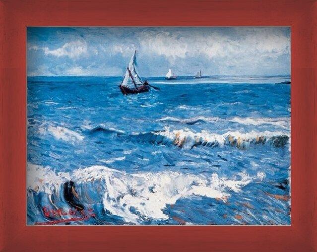 Seascape at Saintes-Maries, 1888 Art Print