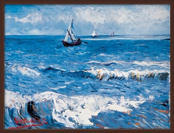 Seascape at Saintes-Maries, 1888 Art Print